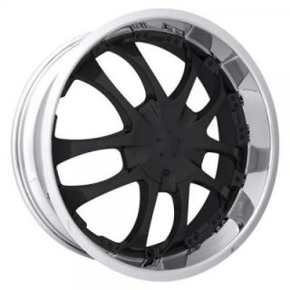 STRADA WHEELS  A ARM MACHINED RIM with BLACK FACE