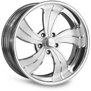 INTRO WHEELS  TWISTED VISTA II POLISHED RIM