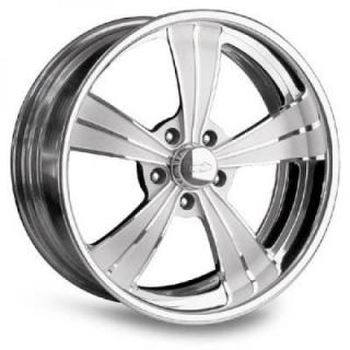 INTRO WHEELS  VISTA II POLISHED RIM with FLUTED SPOKES