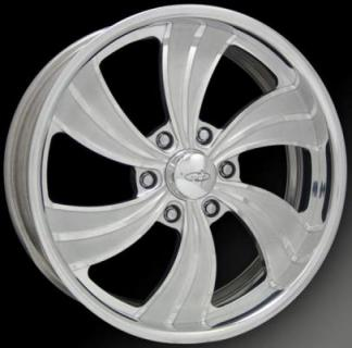 INTRO WHEELS  TWISTED VISTA II 6 POLISHED RIM with FLUTED SPOKES