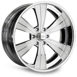INTRO WHEELS  VISTA II 6 POLISHED RIM with FLUTED SPOKES