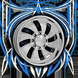 INTRO WHEELS  HD8 TWISTED BLADE POLISHED RIM