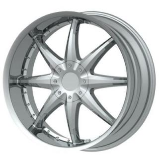 DOLCE WHEELS  DC42 CHROME WHEEL