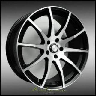 KATANA WHEELS  RC14 BLACK RIM with MACHINED FACE