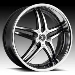 2 CRAVE WHEELS  2 CRAVE N17 BLACK/CHROME LIP RIM