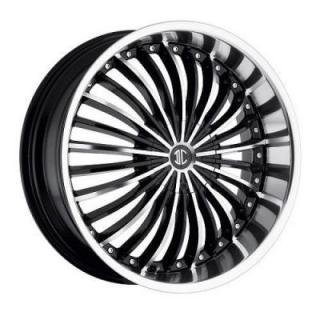 2 CRAVE WHEELS  2 CRAVE N19 BLACK/CHROME LIP RIM