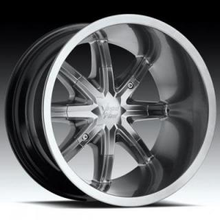 VISION WHEELS  SAHARA 438 ATV HYPER BLACK RIM