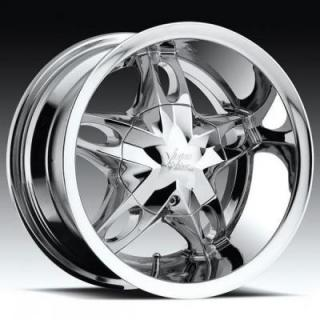 VISION WHEELS  HOLLYWOOD 5 435 GOLF CAR CHROME RIM
