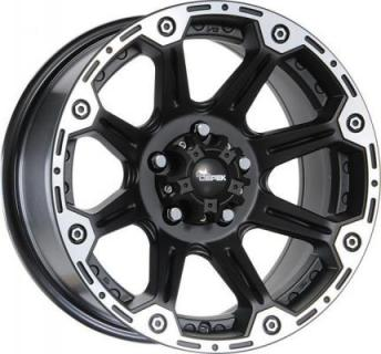 DICK CEPEK WHEELS  TORQUE FLAT BLACK RIM with MACHINED LIP
