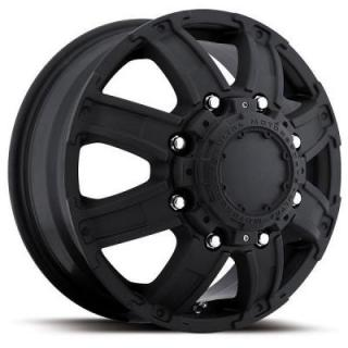 ULTRA WHEELS  GAUNTLET DUALLY 024 MATTE BLACK FRONT RIM