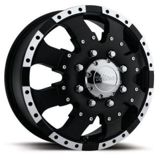 ULTRA WHEELS  GOLIATH DUALLY 023 MATTE BLACK FRONT RIM
