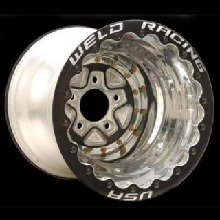 WELD RACING WHEELS  ALUMASTAR PRO BLACK 18-BOLT BEADLOCK RIM with BLACK CENTER