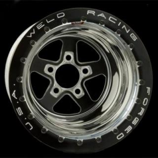 WELD RACING WHEELS  SPORTSMAN DRAG BLACK BEADLOCK BLACK CENTER RIM