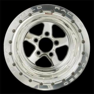 WELD RACING WHEELS  SPORTSMAN DRAG POLISHED BEADLOCK POLISHED CENTER RIM