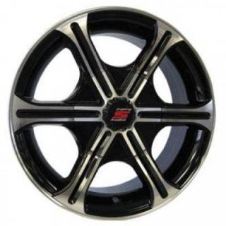 SENDEL WHEELS  T05 TRAILER BLACK MACHINED RIM
