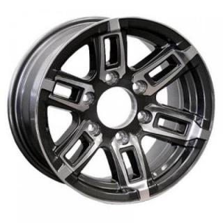 T06 TRAILER GRAY MACHINED RIM by SENDEL WHEELS