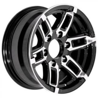 SENDEL WHEELS  T06 TRAILER BLACK MACHINED RIM