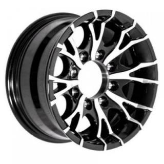 SENDEL WHEELS  T07 TRAILER BLACK MACHINED RIM