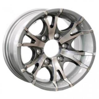 SENDEL WHEELS  T07 TRAILER SILVER MACHINED RIM