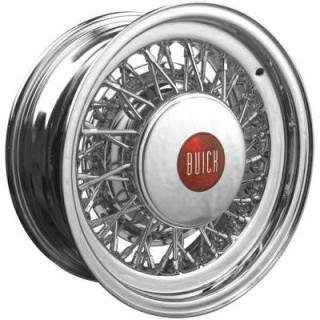 ROADSTER WIRE WHEEL  BUICK WIRE WHEEL CHROME - CAP ADDITIONAL $60