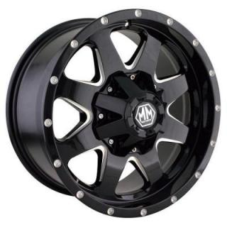 MAYHEM WHEELS  TANK BLACK RIM