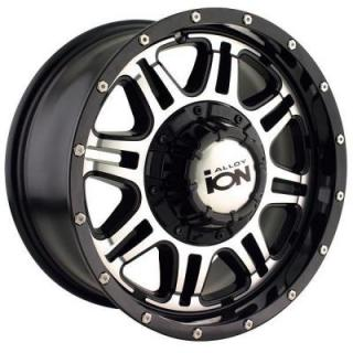 TYPE 186 BLACK RIM with MACHINED FACE from ION ALLOY WHEELS