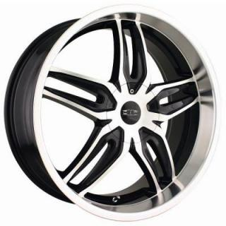 DIP WHEELS  BIONIC BLACK RIM with MACHINED FACE and LIP