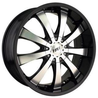 MPW WHEELS  MP110 BLACK RIM with MACHINED FACE