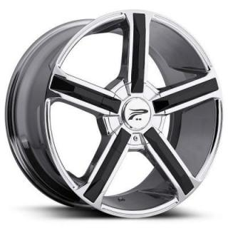 PLATINUM WHEELS  DYNASTY 499 CHROME RIM with BLACK INSERT