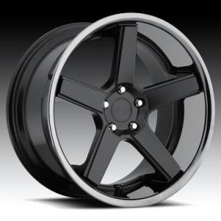 NICHE WHEELS  NURBURG M880 MATTE BLACK RIM with STAINLESS STEEL LIP