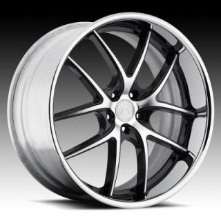 NICHE WHEELS  TARGA M215 BLACK RIM with MACHINED FACE
