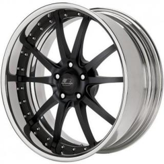 BILLET SPECIALTIES WHEELS  PRO-TOURING SPLINE MATTE BLACK RIM