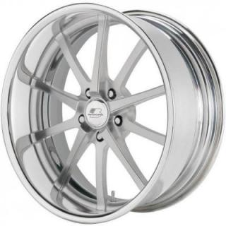 BILLET SPECIALTIES WHEELS  SLC SERIES TURBINE CLEAR SATIN RIM