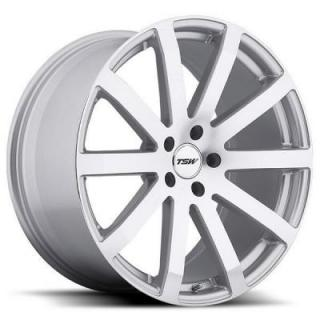 TSW WHEELS  BROOKLANDS SILVER RIM with MIRROR CUT FACE
