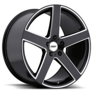 RIVAGE GLOSS BLACK RIM with MILLED SPOKES by TSW WHEELS
