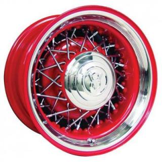 WHEEL VINTIQUES  71 SERIES STREET ROD WIRE PAINT RIM with CHROME SPOKES - Cap Not Included