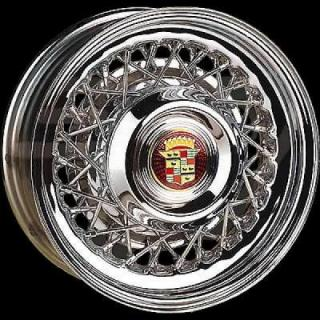 WHEEL VINTIQUES  74 SERIES CADILLAC STYLE WIRE CHROME - Cap Not Included