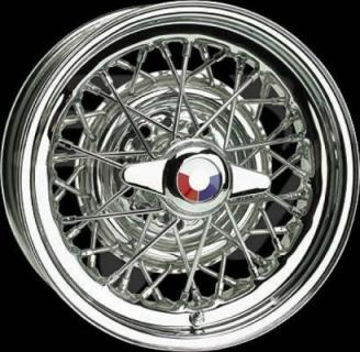 WHEEL VINTIQUES  75 SERIES BUICK STYLE WIRE CHROME - Cap Not Included