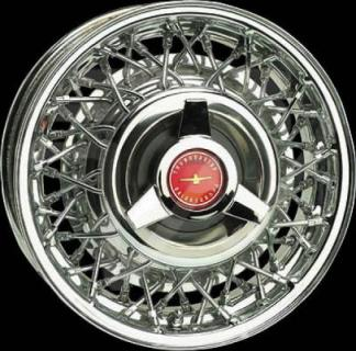 WHEEL VINTIQUES  77 SERIES T-BIRD STYLE WIRE CHROME - Cap Not Included