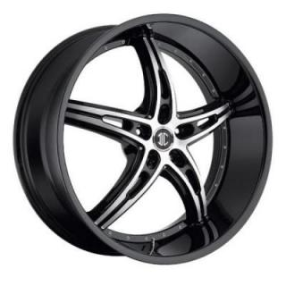 2 CRAVE WHEELS  2 CRAVE N25 BLACK/MACHINED RIM