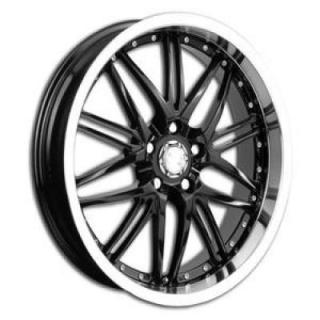RPM WHEELS  R-508 BLACK RIM with MACHINED LIP