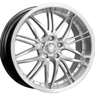 RPM WHEELS  R-508 SILVER RIM with MACHINED LIP