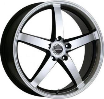 SPEEDY WHEELS  BULLITT MACHINED/BLACK RIM