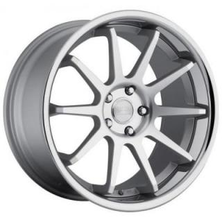 CONCEPT ONE WHEELS  CS-10 MATTE SILVER RIM with MACHINED FACE