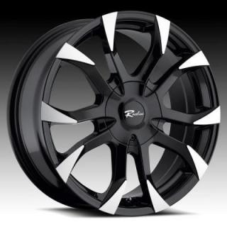 RACELINE WHEELS  198B VECTOR BLACK RIM with MACHINED ACCENTS