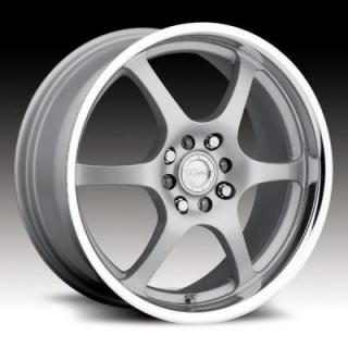 126 SILVER RIM with MIRROR LIP from RACELINE WHEELS