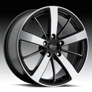RACELINE WHEELS  196 SNIPER BLACK RIM woth MACHINED FACE