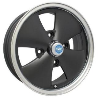 EMPI VINTAGE VW  4 SPOKE MATTE BLACK RIM with POLISHED LIP