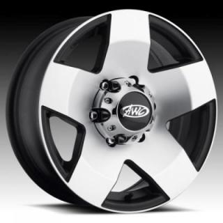 RACELINE WHEELS  850 TRAILER BLACK RIM with MACHINED FACE