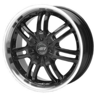 SPECIAL BUY WHEELS  AMERICAN RACING AR363 HAZE BLACK RIM with MACHINED LIP PPT